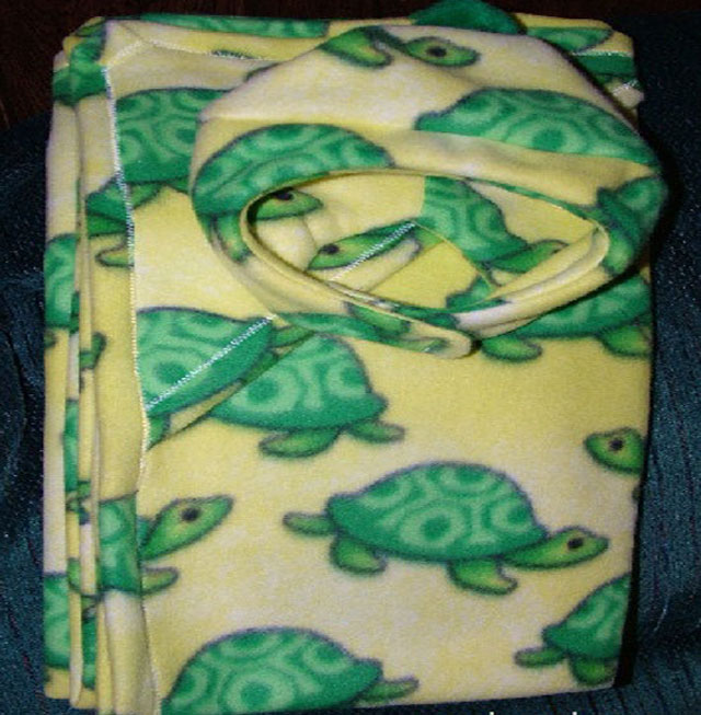 Turtle Baby Blanket and Hat