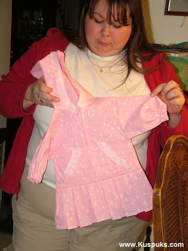 Daughter, Shirene holding a baby kuspuk