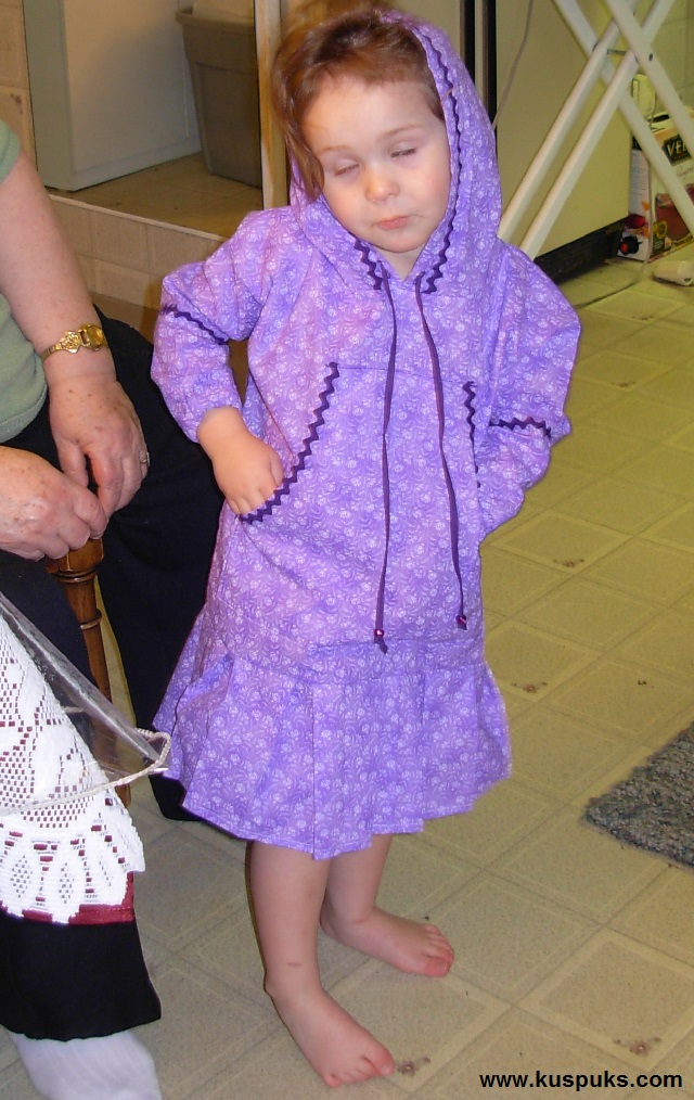 Natillie wearing her kuspuk