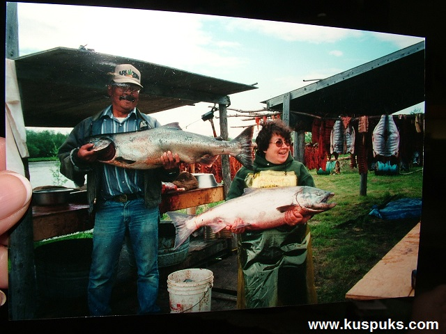 Sister Barb and Her Husband Carl Showing Off Fish